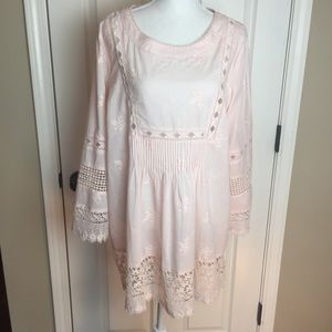 Anthropologie Cirana Tunic Top with Crochet Lace